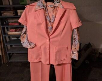 1950's Peach 4 pc Pants Suit