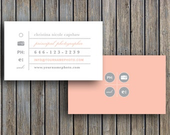 Design templates etsy photography templates business card template business cards vintage business card template for photographers digital photoshop files reheart Images