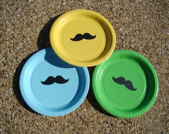 50 Mustache Plates (9 in.)