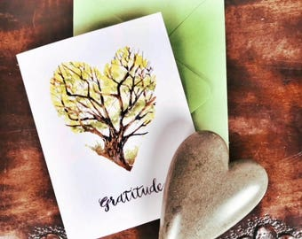 Gratitude Card, Watercolor, Appreciation, Gratitude Project