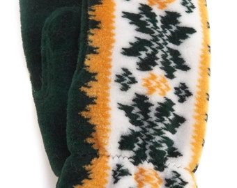 Green and Gold Green Bay Mittens