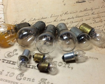 Free US shipping real steampunk 10 vintage lightbulbs tiny to big