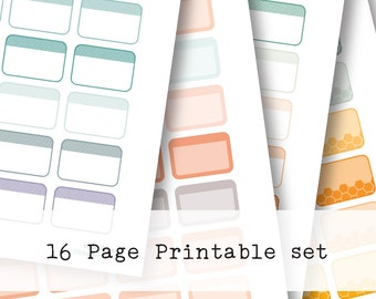 Inkwell Press Planner & other planners Half Boxes Printable Sticker Kit - Instant Download