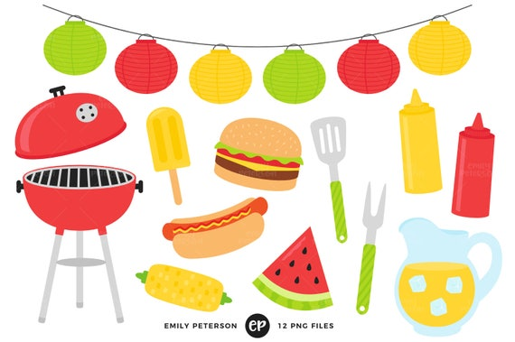 summer bbq clip art barbecue clipart cook out clip art rh etsystudio com bbq clipart black and white bbq clipart images