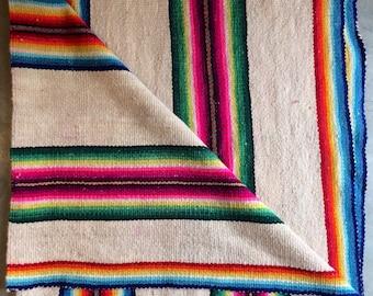 Beautiful & colorful vintage Rug/Blanket!