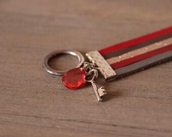 Bracelet • CLOE • couleur rouge / gris