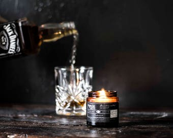 Bourbon Salted Caramel Wood Wick Soy Candle