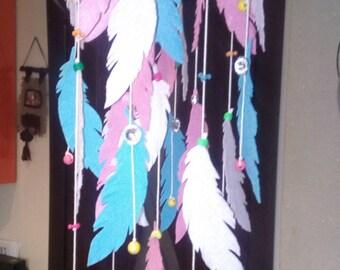Sale!!! Indian Mobil-Decorative interior mobile nature-ekomobil- Feathers Felt