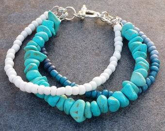 triple multicolored bracelet