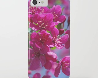 Spring Crabapple pink floral phone case -  nature lover gift, iphone ipod, galaxy s8 s7 s6 s5 s4 nature inspired Christmas gift for her