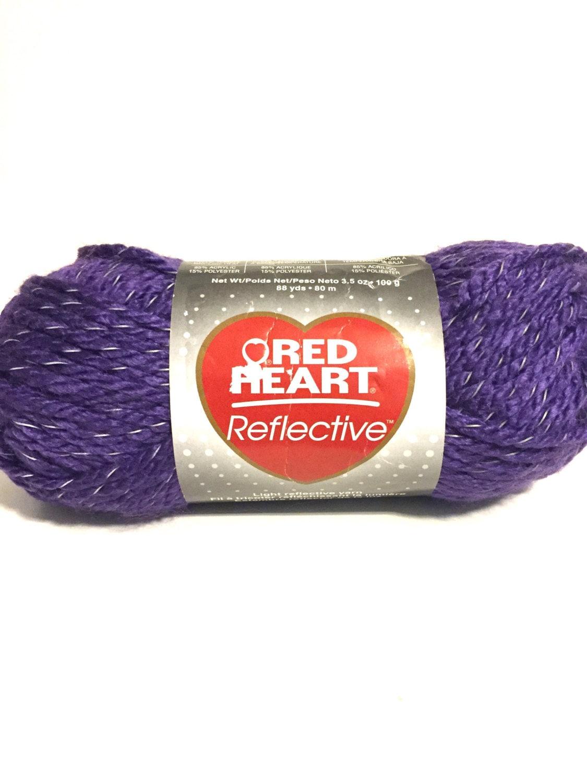 Purple neon yarn, reflective yarn, Red Heart, bulky yarn, crochet ...