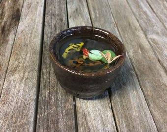 Miniature Koi Pond in Beautiful Sake Cup