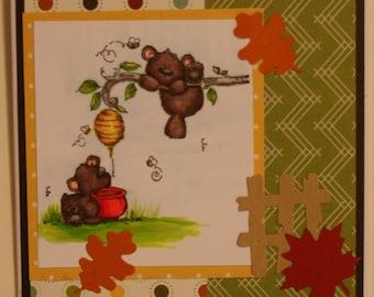 Honey Bear 2 Greeting Card