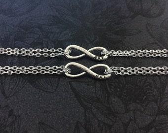 BFF for infinity - best friends 2 bracelet set