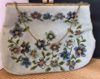 Floral Needlepoint Purse by Christine of Detroit