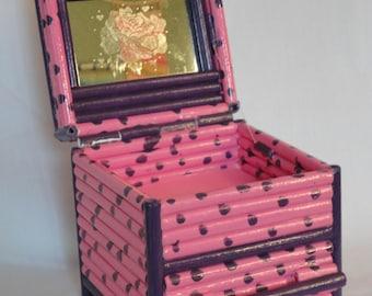 Rolled Paper Trinket or Keepsake Box