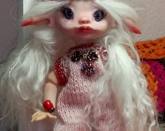 OOAK BJD Art Doll Fairy Elv Sadi