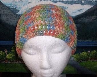 Scct 015 Hand crochet child / teen cotton chemo cap