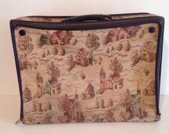 Vintage tapestry overnight bag