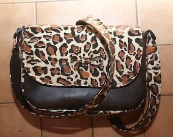 Shaped bag Leopard handbag