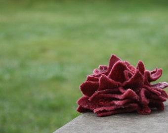 SALE, Felt Brooch Tutorial, Felted Flower Pin, Wet Felting Pattern