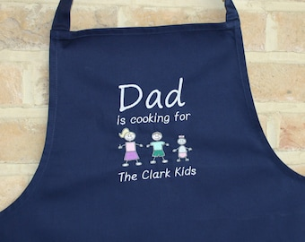 Personalised Apron for Dad/Daddy/Grandad // Father's Day Apron // Father's Day Gift