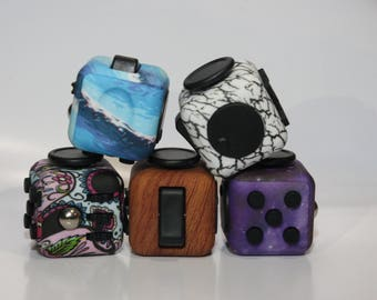 Fidget Cube Best Quality - Anxiety Relief, Stress Relieving, Autism, ADHD - Sensory Toy for Adults or Kids - with Case and Protector Spinner