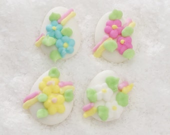 Edible Royal Icing Easter Eggs - Perfect for cakes & cupcakes!
