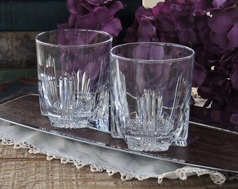 Bormioli Rocco Italian Crystal Double Old Fashioned Glasses Set of 2 Rocks Glasses Whiskey Glasses Barware