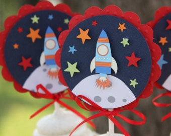 outer space cupcake toppers outer space birthday space birthday rocket ship birthday decorations boy birthday party rocket ship party