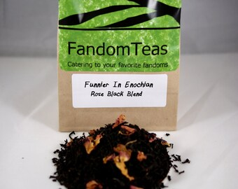 Funnier In Enochian: Castiel Supernatural Inspired Tea Blend (Rose Black tea blend)