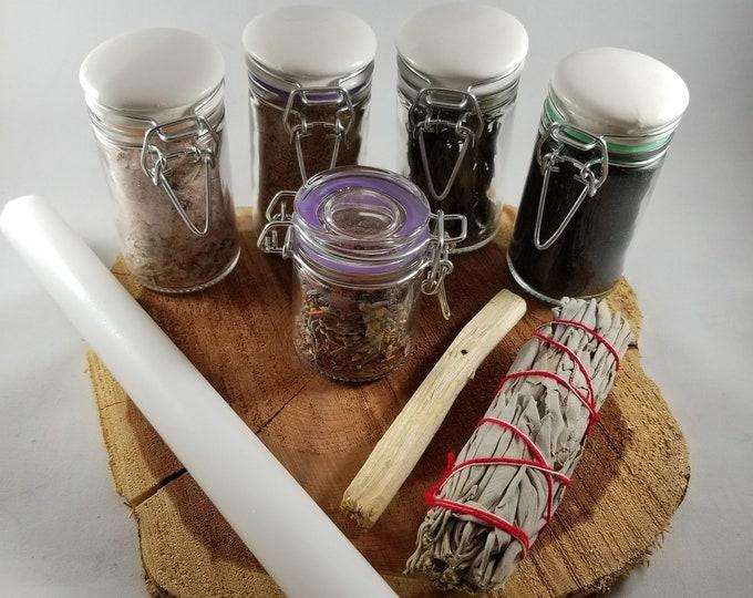 Featured listing image: Negativity Be Gone Ritual Kit: Banishing, Cleansing, Purification