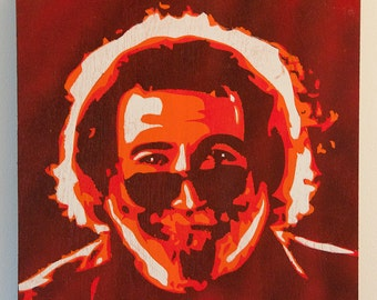 Jerry Garcia Multilayer Graffiti Stencil Art Painting