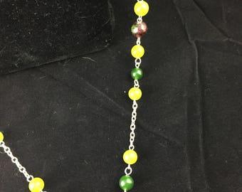Gemstone chain necklace