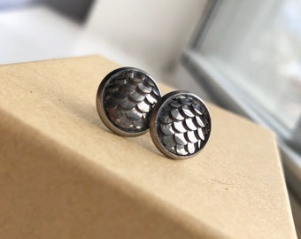Gunmetal Dragon Scales 10 mm
