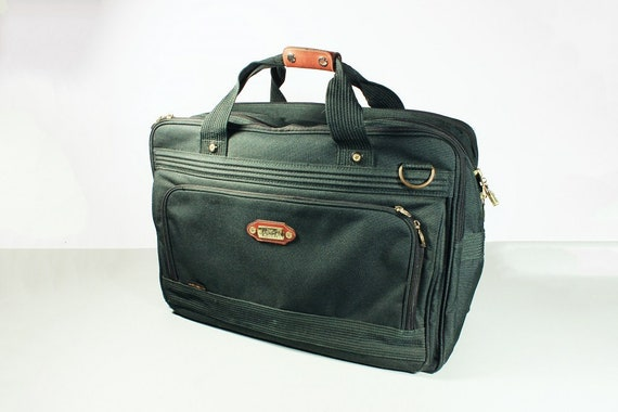 Ricardo Beverly Hills, Carry-on Bag, Overnight Bag, Travel Bag, Luggage, Green Canvas, Shoulder Strap