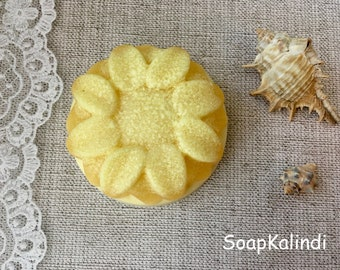 sulfur soap sunflower natural soap PALM FREE SOAP vegan soap Gift Soap sls free organic soap coconut soap flower Soap beautiful soap Kalindi