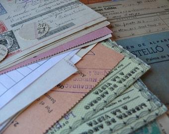 12 Office papers - Vintage Ephemera Paper Pack