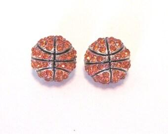Basketball Rhinestone Earings.