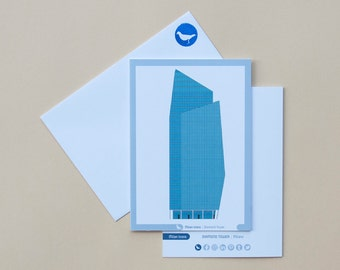 Milan Icons Greeting Cards-Diamond Tower-Milan