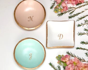 Personalized Ring Dish / Monogram Jewelry Dish / Gift for Her / Bridesmaid Gift / Wedding Gift / Engagement Gift / Personalized Jewelry Dish