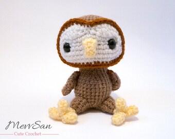 Crochet PATTERN PDF - Amigurumi Woodland Critter Owl - crochet animal pattern, amigurumi owl pattern, owl plush, crochet owl toy