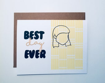 wish-best day-celebration-stationery-good look best card-card making Interior blank A2-card greeting-girlfriend