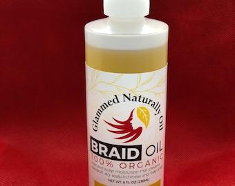 GlammedNaturallyOil 8oz Braid Oil