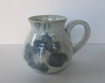 Blue and Gray Stoneware Mug