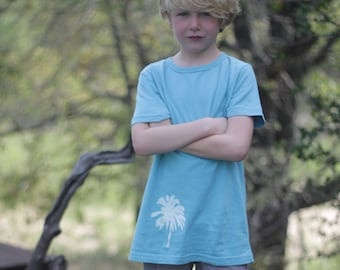 t shirt boy palm tree