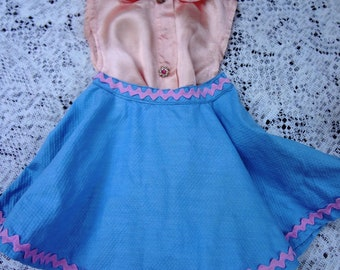 """1950's 18""""  Doll  Blouse and Skirt / Handmade 2 Piece"""
