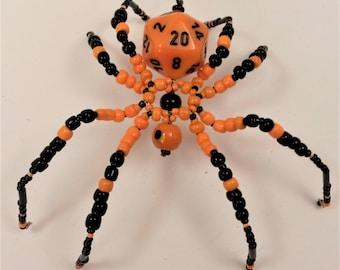 Orange and Black D20 Spider