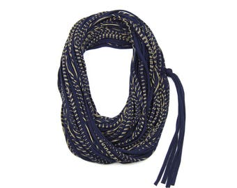 Statement Necklace, Infinity Scarf, Statement Jewelry, Travel Gift, Scarves for Women, Scarf Women, Travel Accessories, Blue Scarf, Mens