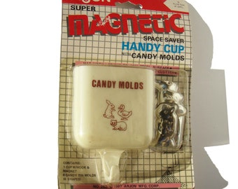Vintage Candy Molds Tin Animals & Magnetic Cup by Arjon - New In Package